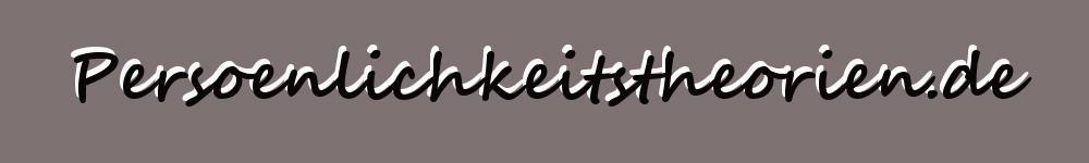 Logo Biografie Pers�nlichkeitstheorien